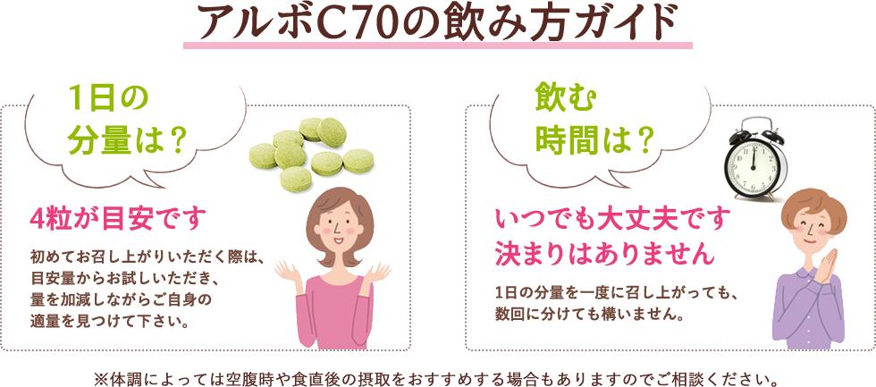 アルボC70の飲み方ガイド